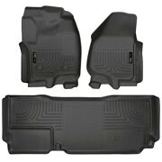 99721 Husky Liners Floor Mats Front New Black For F250 Truck F350 F450 Ford