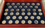 Presidential 1 Collection D Franklin Mint Complete Set W/white Coin Ring =40