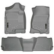 98262 Husky Liners Floor Mats Front New Gray For Chevy Suburban Yukon 1500 Xl