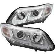 121478 Anzo Headlight Lamp Driver And Passenger Side New Lh Rh For Honda Civic