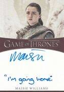 Game Of Thrones Season 8 Inscription Autograph Card Signed By Maisie Williams 1
