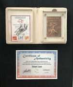 Amazing Fantasy 15 Signed By Stan Lee Highland Mint Bronze Card Spider-man 1