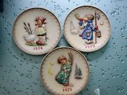 M J Hummel Collectible Plates 1971, 1972, 1974. Lot Of 3