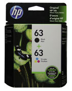 Hp 63 Combo Ink Cartridges 63 Black And Color New Genuine