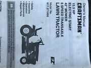 Craftsman Lawn Tractor15.5 Hp Kohler Engine With Double Plastic Bagger 300.00