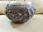 Large Solid Coin Silver Thabeik Bowl