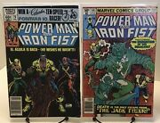 Power Man And Iron Fist 66 And 78 Key Issues Lot 2nd/3rd Appearance Of Sabretooth