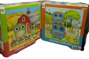 2 Debbie Mumm Owl 550 Piece Puzzles Apple Orchid And Spring Garden Blue And Green