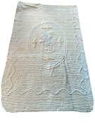 Antique Child Baby Chenille Coverlet Bedspread 63x38 Rabbit Out Of A Box