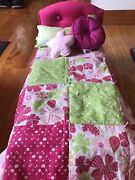 """American Girl Doll 18""""- Bloom Bed And Bedding- Retired Full Set In Box"""