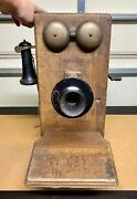 Vintage Western Electric Early 1900s Wall Phone 317 R Hand Crank Telephone 5 B