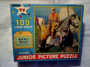 1956 Wild Bill Hickok Puzzle Built Rite Guy Madison,indian Chief Missing 1 Piece