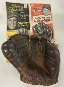 Vintage Stan The Man Musial Rawlings Pmm Three Finger Glove With 2 Vintage Ads