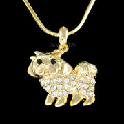 Shih Tzu Made With Crystal Maltese Yorkshire Terrier Maltipoo Necklace