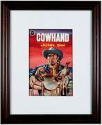 Walt Howarth Book Cover Original Art Painting 1950 Cowhand Western Framed Signed