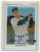 2017 Topps Archives Snapshots On Card Rc Auto Autograph 10/80 Aaron Judge Yankee