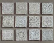 Interior Wall Tiles Marbles Mandala Style Sold By 1 Pcs Designer White 350 G
