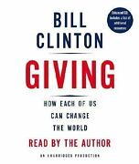 Giving How Each Of Us Can Change The World By Bill Clinton 2007 5 Cd Audiobook