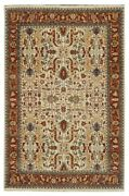 Clearance Hand Knotted Area Rug 10x14 Ivory Rug Wool On Cotton Rugs B-79403