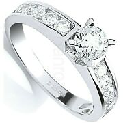 Certificated Diamond Solitaire Ring One Carat 18 Carat White Gold British Made