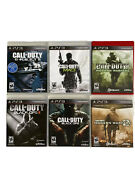 Ps3 Lot Of 6 Games Call Of Duty 4 Modern Warfare Mw2 Mw3 Ghosts Black Ops 1 And 2