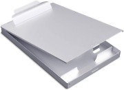 Metal Clipboard With Storage Aluminum Clipboards High Capacity Clip Box For Let