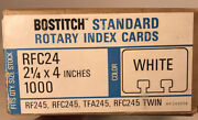 """Vintage Bostitch Standard Rotary Index Rolodex Cards 2.25 X 4"""" White, 3/4 Full"""