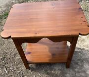 Ethan Allen Side Table Or Accent Table Country Craftsman Rectangular 19-8308