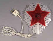 Star Christmas Electric Tree Topper Lights Red Russian Vintage Old Xmas Ornament
