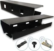 Under Desk Cable Management Tray Pack Of 2, Black, 2 Mounting Options Tape/scr