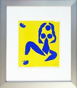Henri Matisse First Run Lithograph Print Signed In Plate From Verve 1954 Framed