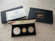 2008 Us Mint Bald Eagle Gold And Silver 3 Coin Proof Set With Box/coa