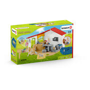 Schleich Farm World Veterinarian Practice Playset With Pets And Accessories