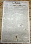 1803 Newspaper 1802 Report Of The Us Mint Gold Coins Minted Bullion Numismatics