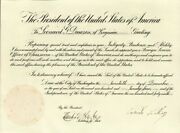 Calvin Coolidge - Diplomatic Appointment Signed 12/20/1924 With Co-signers