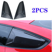 Carbon Fiber Side Window Louver Shutter Trim Cover Fit For Ford Mustang 15-2020