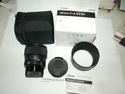Sigma 85mmf1.4 Art Dg Dn Lens For L Mount Camera New In Factory Box And Case