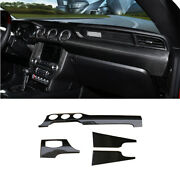 For Ford Mustang 2015-2020 Dry Carbon Fiber Middle Console Dashboard Panel Trim