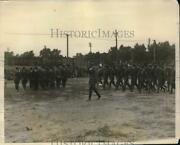 1927 Press Photo Rotc Officers On Review At Drexel Institute In Phila.pa