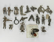 Sterling Silver Western Themed Charms Miniature Figurine Pendant Your Choice