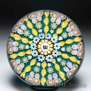 Perthshire Paperweights Butterfly Cane And Patterned Millefiori Paperweight