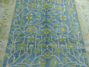 8and039x10and039 New Supreme Quality Blue Hand Knotted Wool Tree Of Life Oriental Area Rug