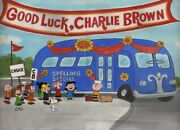 Peanuts-good Luck Charlie Brown Limited Edition Cel Signed By Bill Melendez
