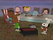 Peanuts-the Thanksgiving Feast Limited Edition Cel Signed By Bill Melendez
