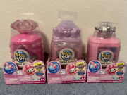 Pikmi Pops Cheeki Puffs Medium Collectible Scented Shimmer Plush Lot Of 3