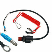 Motor Outboard Kill Switch Set Plastic Wire Engine Lanyard Replacement
