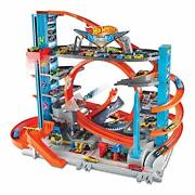 Hot Wheels City Ultimate Garage With Shark Attack Multi