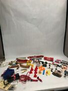 Lot Miniature For Ho Train Towns Canoe Signs Phone Booth People Fence Warning