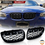 Diamond Black Front Kidney Grill Grille For 07-10 Bmw E92 E93 M3 328i 335i Coupe