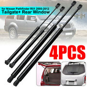 4x Rear Window Tailgate Gas Strut Support Lift For Nissan Pathfinder R51